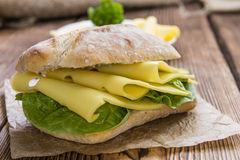 Fresh made Sandwich (with Cheese) Royalty Free Stock Image