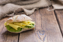 Fresh made Sandwich (with Cheese) Stock Photography