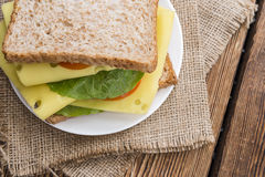 Fresh made Sandwich (with Cheese) Royalty Free Stock Photo