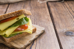 Fresh made Sandwich (with Cheese) Royalty Free Stock Images