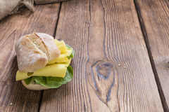 Fresh made Sandwich (with Cheese) Stock Photo