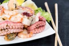 Fresh made Seafood Salad Royalty Free Stock Photography