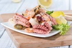 Fresh made Seafood Salad Stock Photo