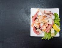 Fresh made Seafood Salad Stock Photos