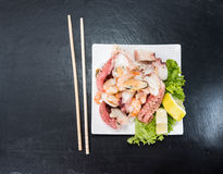 Fresh made Seafood Salad Royalty Free Stock Photos