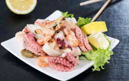 Fresh made Seafood Salad Royalty Free Stock Photo
