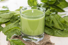 Fresh made Spinach Juice Royalty Free Stock Photography