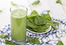 Fresh made Spinach Juice Stock Images