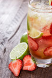 Fresh made Strawberry Caipirinha Royalty Free Stock Photo