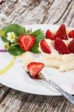 Fresh made Strawberry Pie Royalty Free Stock Image