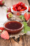 Fresh made Strawberry Sauce Stock Photography
