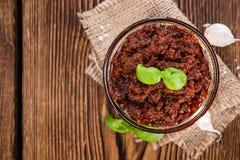 Fresh made Tomato Pesto Stock Photos