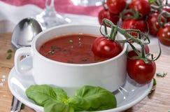 Fresh made Tomato Soup Stock Photo