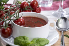 Fresh made Tomato Soup Royalty Free Stock Images