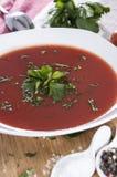 Fresh made Tomato Soup Royalty Free Stock Image