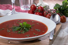 Fresh made Tomato Soup Stock Images