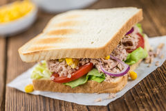 Fresh made Tuna Sandwiches selective focus Stock Image