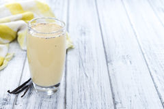 Fresh made Vanilla Shake Royalty Free Stock Photo