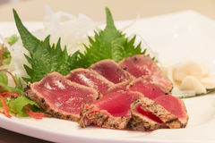 Fresh maguro tataki Stock Image