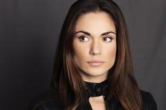 Fresh daily makeup. Beautiful woman model with fresh daily makeup stock image