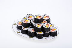 Fresh maki rolls Stock Images