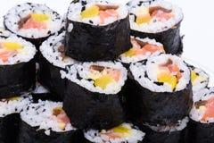 Fresh maki rolls Royalty Free Stock Image