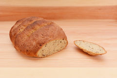 Fresh malted bread loaf with the crust cut off Stock Photos