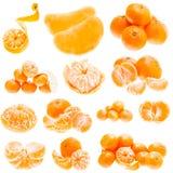 Fresh Mandarin Citrus Isolated Tangerine Mandarine Orange In Hea Royalty Free Stock Image