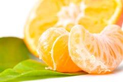 Fresh mandarin macro Royalty Free Stock Photos