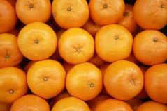 Fresh mandarin oranges. In the fruit market Royalty Free Stock Photos
