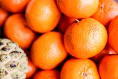 Fresh mandarin oranges stock photo