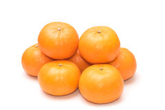 Fresh mandarin oranges Royalty Free Stock Photos