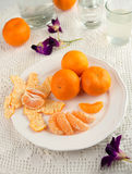 Fresh mandarin oranges Royalty Free Stock Images