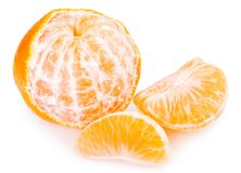 Fresh mandarine on white background royalty free stock images