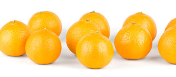 Fresh mandarins Royalty Free Stock Photo
