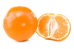 Fresh mandarins Stock Photography