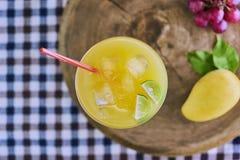 Fresh mango cocktail. Royalty Free Stock Image