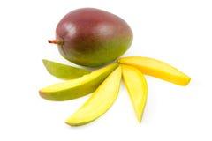 Fresh Mango fruit with slices Royalty Free Stock Photo