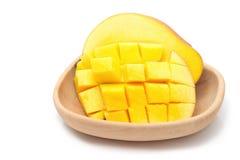 Fresh Mango fruit with slices Stock Images