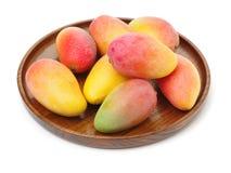 Fresh mango fruits. On a White Backgrounds stock images