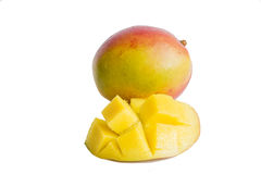 Fresh mango isolated. On a white background Royalty Free Stock Images