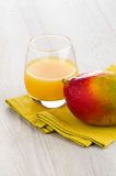 Fresh mango juice Stock Image