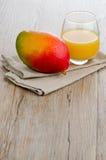 Fresh mango juice Stock Photos