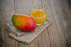 Fresh mango juice Stock Images