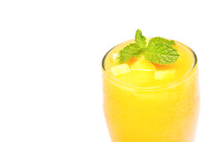 Fresh mango juice in a glass Stock Photography