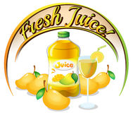 Fresh mango juice label Stock Photos