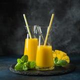 Fresh mango juice. Selective focus stock photos