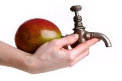 Fresh mango juice source Stock Photo