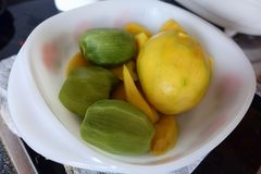 Fresh mango and kiwi royalty free stock image