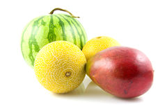 Fresh mango and melon Royalty Free Stock Images